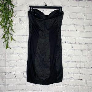 bebe Dresses - Bebe snake print bodycon strapless dress size 6